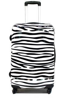Hartschalen Reise Koffer Trolley Zebra Design 36 Liter