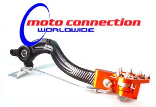 KTM 250 SXF 350 SXF 2013 Motocross APICO REAR BRAKE PEDAL BLACK/ORANGE