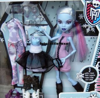 MONSTER HIGH I LOVE FASHION ABBEY BOMINABLE MIT 3 OUTFITS NEU HEIT OVP