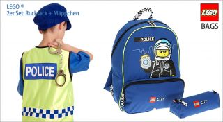 Kinderrucksack SET LEGO CITY POLICE Rucksack + Mäppchen