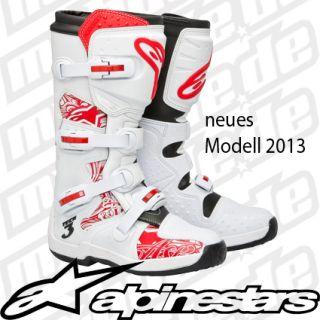 Tech 3 MX Motocross Enduro Stiefel Cross Quad weiss 2013 NEU