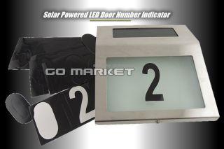 Solar LED Light House Street Address Numbers stainless steel