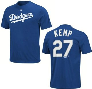 MLB Baseball NameΝmber T Shirt LOS ANGELES L.A. DODGERS Matt Kemp