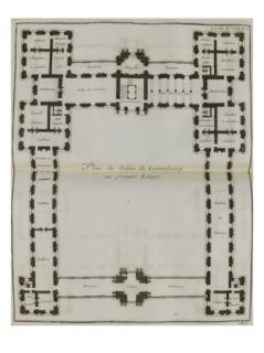 Plate 183 First Floor Plan of the Luxembourg Palace Giclee Print by Jacques François Blondel