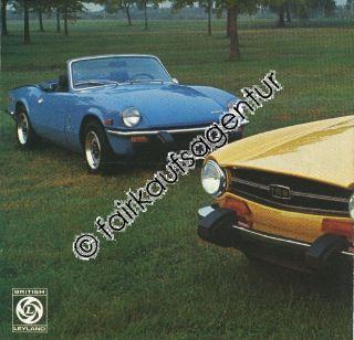 brochure catalog Prospekt Katalog Triumph TR6 Spitfire 1500 Sports