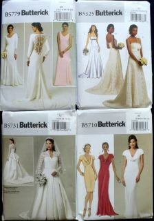 BRIDAL BRIDESMAID WEDDING GOWN DRESS SEWING PATTERN 6 22 U PICK