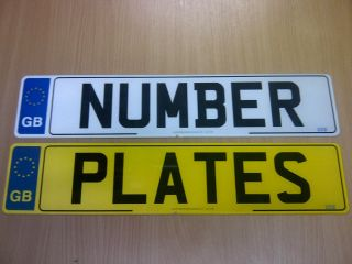 PAIR of GB Euro Number Plates MOT Compliant Road Legal