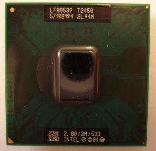 Original Intel Core Duo T2450 SLA4M CPU 2 x 2 GHz 2 MB L2 Cache 533