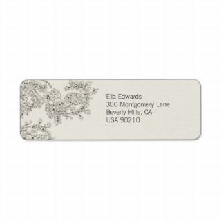 Customizable Vintage Inspired Return Address Label