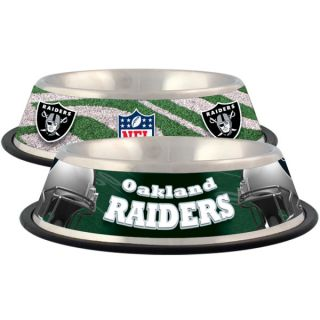 Oakland Raiders Stainless Steel Pet Bowl   Team Shop   Dog