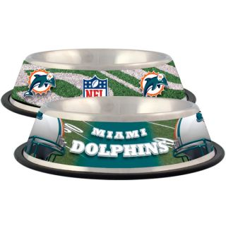 Miami Dolphins Stainless Steel Pet Bowl   Team Shop   Dog