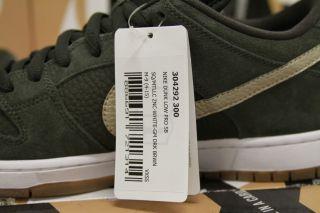 Nike Dunk Low Premium SB DS SAMPLE 9 SEQUOIA WHITE GUM METALLIC GOLD