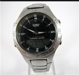 Quartz Watch CASIO EDIFICE EFA 110 Telememo Chrono Dual Time 3 Alarm