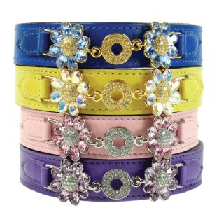 Hartman & Rose Fresh as a Daisy Collection Leather Dog Collar   Dog   Boutique
