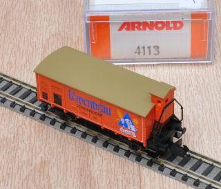 Arnold 4113 Güterwagen G 10 Löwenbräu Schorndorf / unbespielt