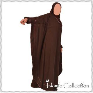 Farasha Braun / Braun Jilbab Hijab Islamische Kleidung 16 3014