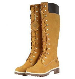 Timberland 23345 14 Inch Premium Waterproof Womens Boots Wheat/Nubuck