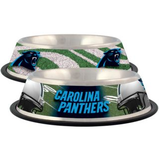 Carolina Panthers Stainless Steel Pet Bowl   Team Shop   Dog