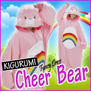 NEW Kigurumi Fancy Dress Cheer Bear Costume Care Bears Pajamas Japan