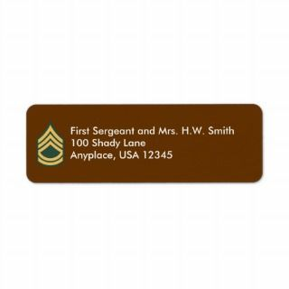 Army Sergeant First Class Address Label