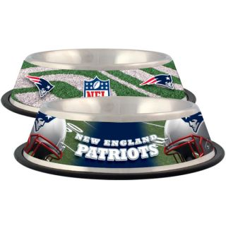 New England Patriots Stainless Steel Pet Bowl   Team Shop   Dog