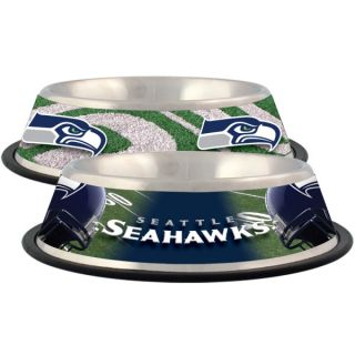 Seattle Seahawks Stainless Steel Pet Bowl   Team Shop   Dog