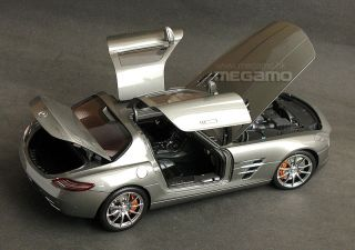 18 GT AUTOS GTA Welly Mercedes Benz SLS AMG Brown