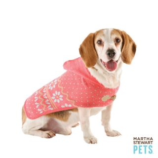 Martha Stewart Pets™ Hooded Sweater Cape   Martha Stewart Pets   Dog
