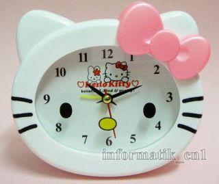 Neu Hello Kitty Uhr Wecker alarm clock Standuhr Kinder