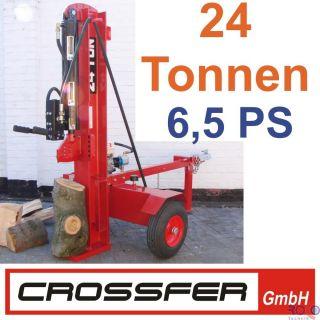 24 To 62cm Holzspalter Benzin Motor 6,5PS auf Anhänger