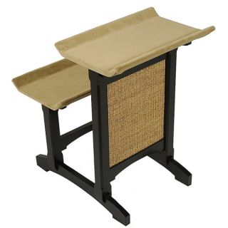Mr. Herzher's Deluxe Double Seat Wooden Cat Perch with Sisal   Black