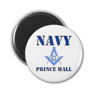 Prince Hall Masons in the Navy Fridge Magnet