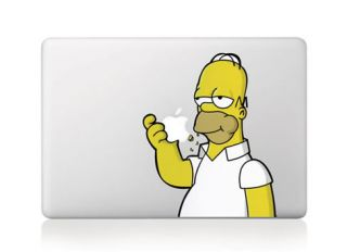 Homer Simpson Eating Apple Macbook Air/Pro 13 Vinyl Sticker Skin
