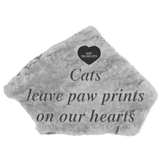 Kay Berry Cats Leave.Personalized Cat Memorial Stone with Heart   Pet Memorial   Cat