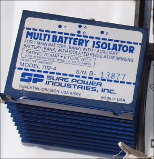 Sure Power Multi Battery Isolator 702 4 Ladestromverteiler 6V   50V
