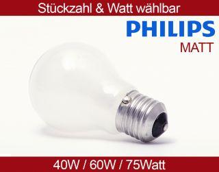 PHILIPS Glühbirnen 40W 60W 75W E27 MATT Glühlampe Glühbirne