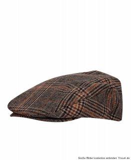 Brixton Hooligan Hat Cap Schiebermütze brown/black houndstooth Gr.M