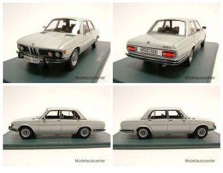 BMW 3.0 S (E3) 1975 silber, Modellauto 143 / Neo Scale Models