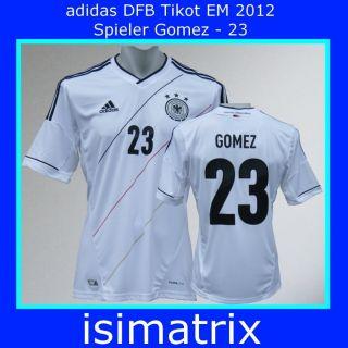 adidas DFB Deutschland Trikot EM 2012 Kinder   Mario Gomez + 23