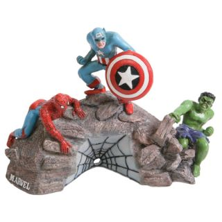 Top Fin&reg Marvel Rock Group Shot Aquarium Ornament   Decorations   Fish
