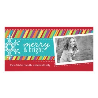 Colourful and Bright Holiday Photo Cards