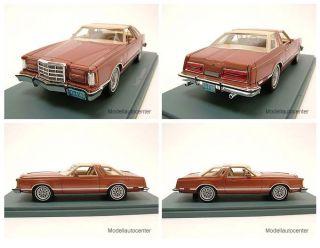Ford Thunderbird 1979 kupfer metallic Modellauto 1 43 Neo Scale Models