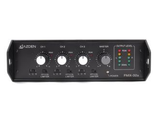 Azden FMX 32A 3 Channel Portable Field Camera Audio Sound Mixer
