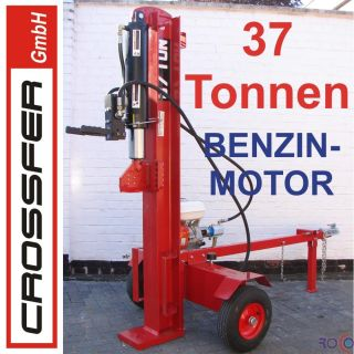 37 To 105cm Holzspalter Benzin Motor 9 PS auf Anhänger