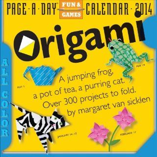 Origami 2014 Page A Day Calendar Margaret Van Sicklen