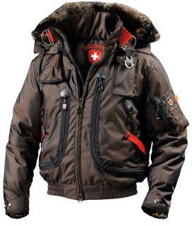 WELLENSTEYN USA mens Rescue winter Jacket coat brown RES66 COU PS