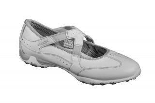 Geox Respira Schuhe Freccia Bal in weiß Damen Slipper