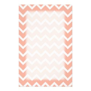 Coral and White Zig Zag Pattern. Stationery