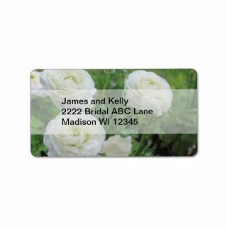 Purity White Roses Personalized Address Labels