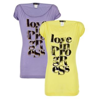 Miss Sixty Shirt gelb oder lila XS S M L UVP 49,90 € NEU